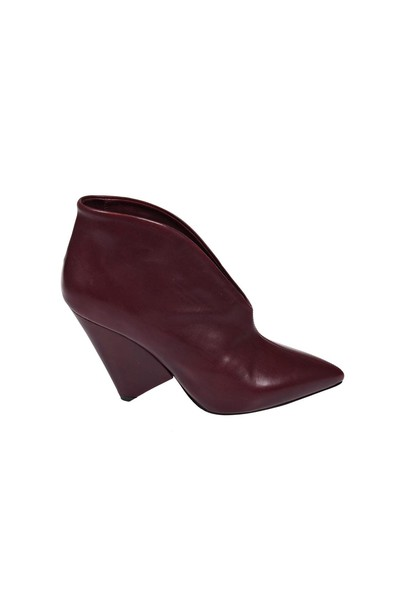 Isabel Marant burgundy shoes