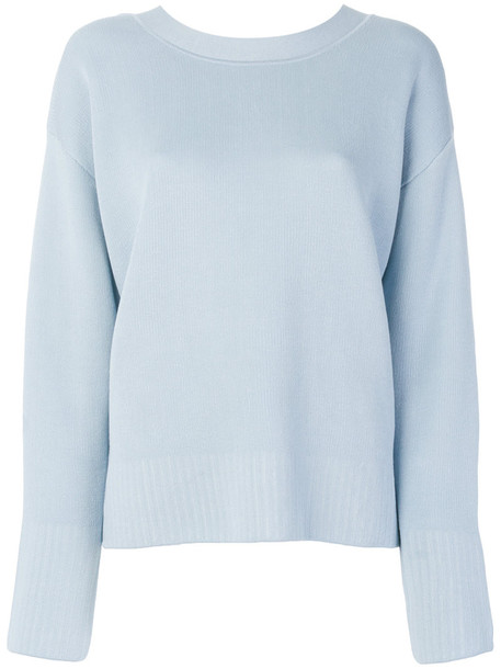 3.1 Phillip Lim sweater women classic cotton blue silk