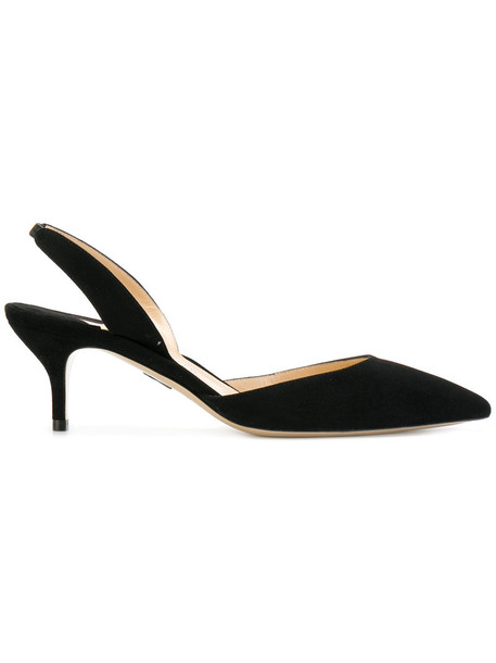 Paul Andrew heel women pumps leather black shoes