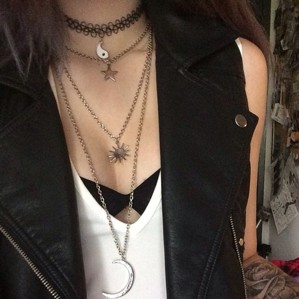 jewels necklace grunge cute