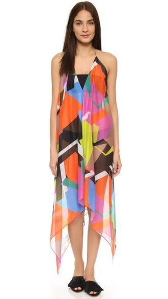 cover up print swimwear