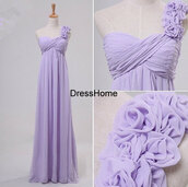 dress,long bridesmaid dress,one shoulder dress,lavender bridesmaid dress,bridesmaid