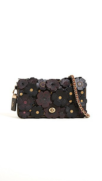 coach cross rose tea bag black