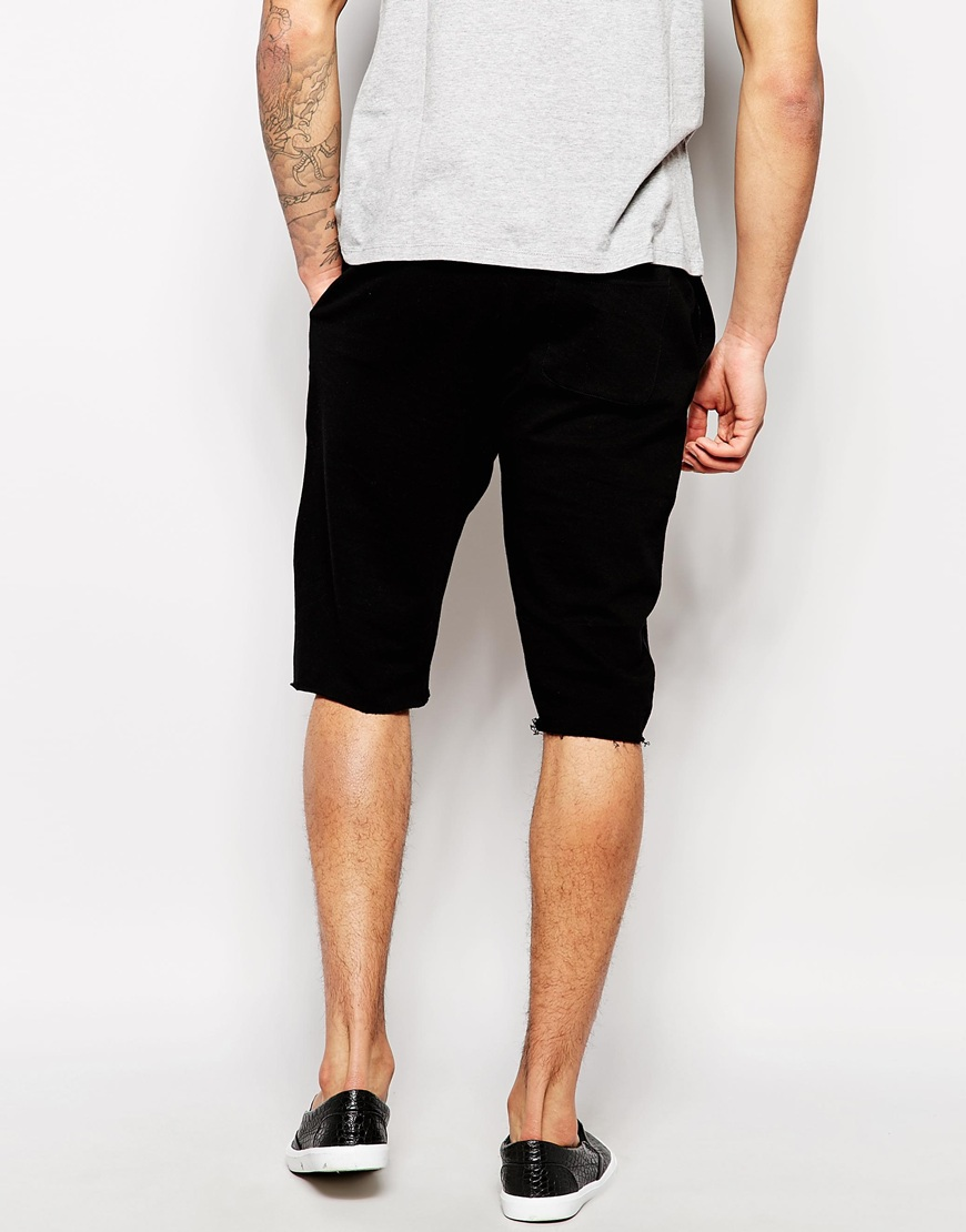 Asos jersey shorts in longer length at asos.com