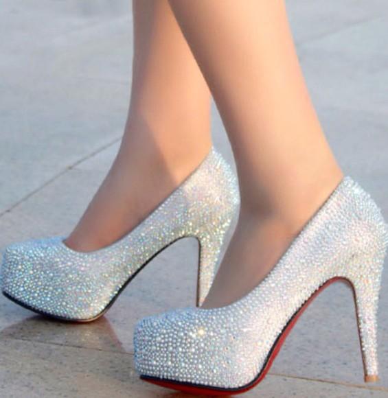 high heels diamonds