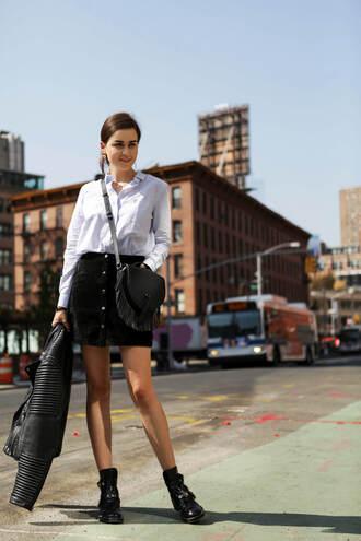 style scrapbook blogger shirt skirt shoes bag