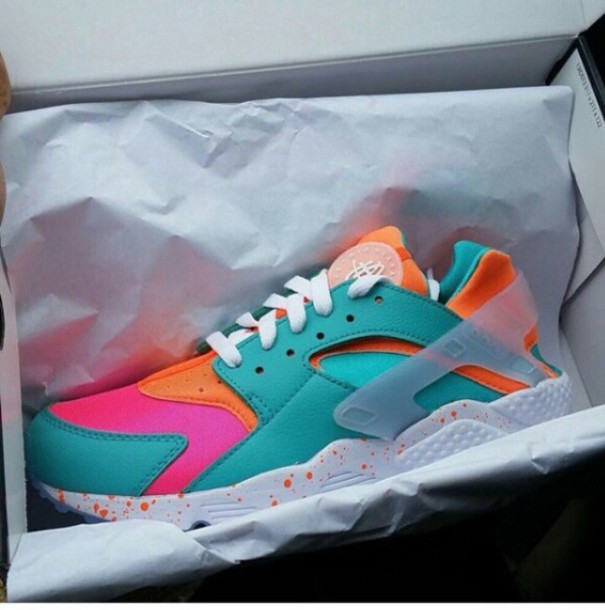 b52aba500 shoes huarache colorful shoes nike huarache neon bright sneakers chic swag  summer dope nike sneakers urban