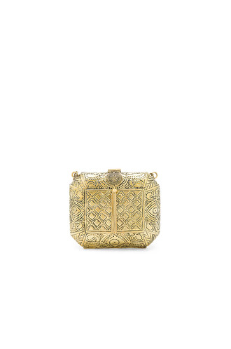 clutch metallic gold bag