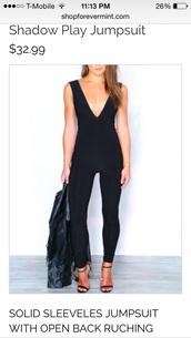 jumpsuit,forever mint,romper,pants,fashion,black high waisted pants,black jumpsuit,sexy black jumpsuit,sexy black catsuit