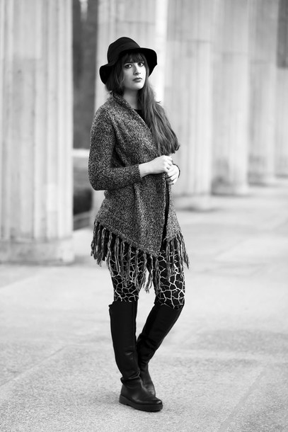 andy sparkles blogger cardigan leggings hat shoes