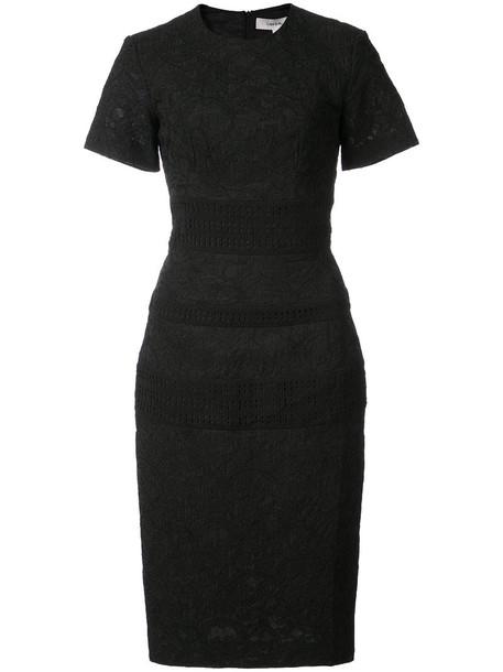 Lover dress women jacquard floral cotton black silk