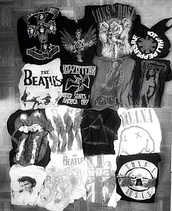 guns and roses,nirvana,the rolling stones,led zeppelin,t-shirt,band,anyothers,the beatles,white t-shirt,black t-shirt