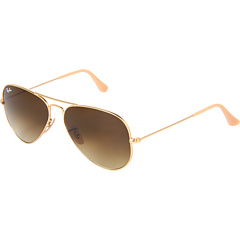 Ray-Ban 3025 Original Aviator size 58mm   Matte Gold/Green Mirror - Zappos.com Free Shipping BOTH Ways