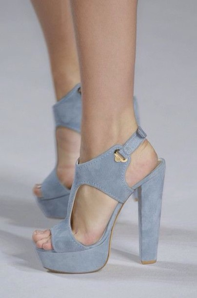 shoes high heels tumblr shoes elie saab blue blue high heels