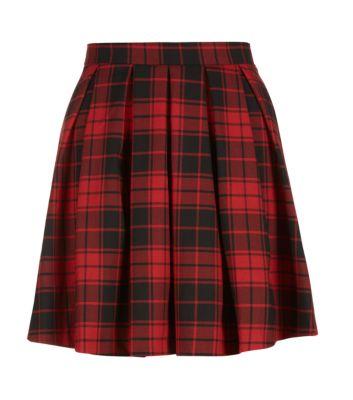 Red Tartan Skater Skirt