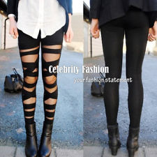 AC1 Celeb Style CUT OUT Bandage Black Leggings AU8 10 | eBay