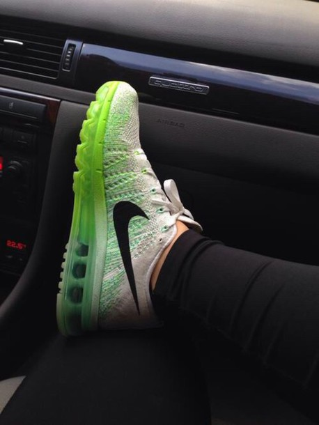 shoes green and white nike air max green