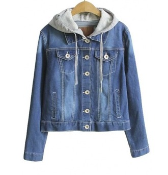 jacket girl girly girly wishlist blue denim denim jacket hoodie