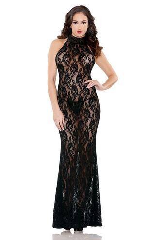 dress lingerie black lace gown black lace bikiniluxe