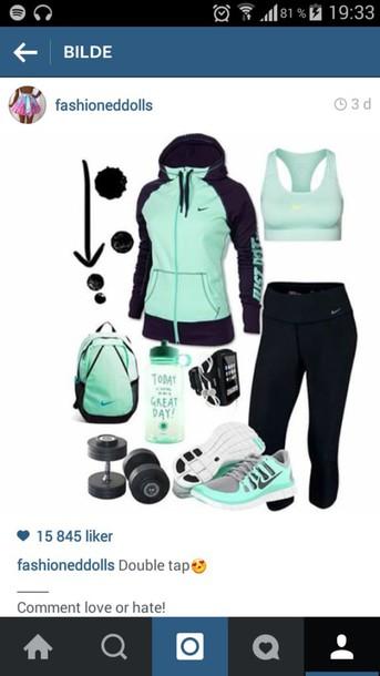 jacket fitness fitness jacket training clothes fitness underwear teal black nike workout black teal nike shoes