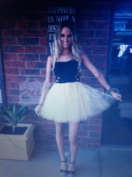 dress tulle prom ruffles tumblr homecoming dress rose white black cut offs cute dress