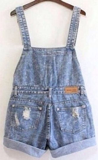jeans salopette shorts oversize 80's vintage grunge