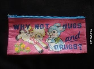 bag bunny hugs pouch pencil case