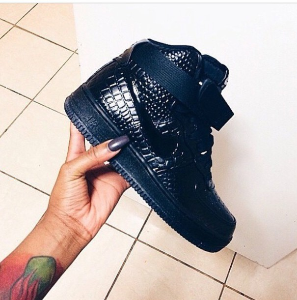 shoes nike air force 1 patent croc