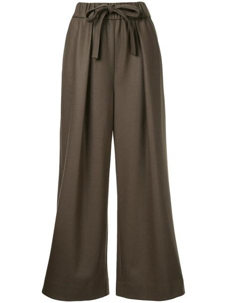 Estnation women wool green pants
