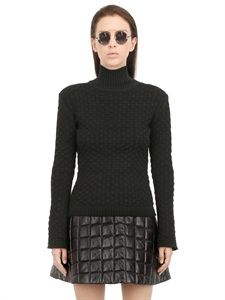 LUISAVIAROMA.COM - OMELYA - WOOL JERSEY TOP WITH BELL SLEEVES