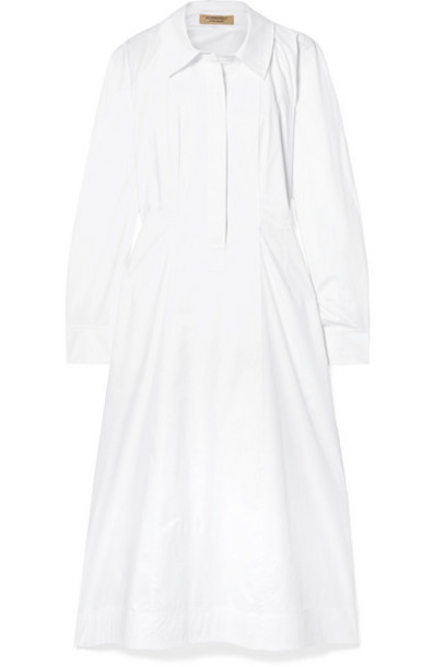 Burberry - Stretch-cotton Poplin Shirt Dress - White