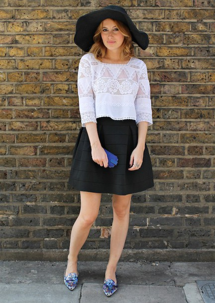 at fashion forte blogger top skirt