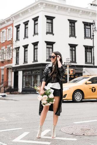 wendy's lookbook blogger coat top shorts shoes