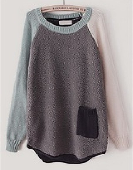 sweater black pocket grey oversized sweater fleece multicolor pink green long sleeve