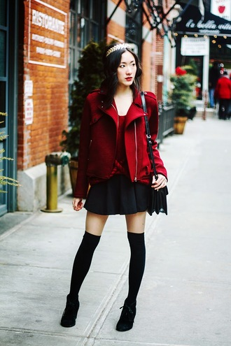 art in our blood blogger jacket sweater skirt bag socks shoes