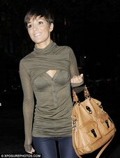 brown bag,camel,bag,blouse