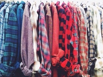 shirt grunge grid plaid red long sleeves plaid sweater graphic tee t-shirt print grunge top grunge wishlist flannel shirt button up blouse blouse vintage boho hipster 80s style punk jacket