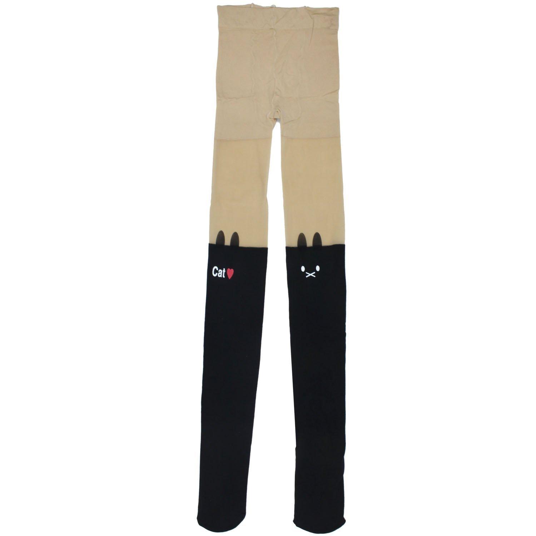 Amazon.com: womdee(tm) women's fashion cat and love heart print sexy skinny socks tattoo tights pantyhose stockings