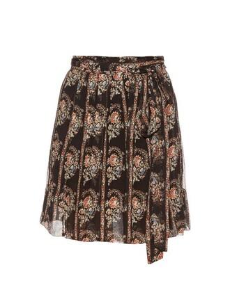 skirt silk black