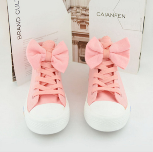 shoes cute bows pink tumblr shoes with bows pink