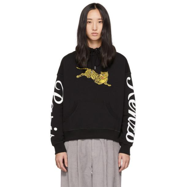 hoodie tiger black sweater