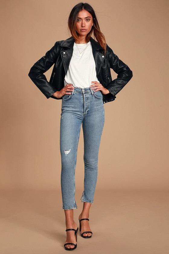 Nico High Rise Light Blue Slim Leg Jeans