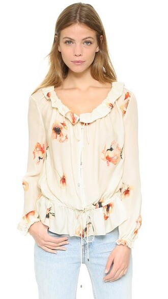 blouse ruffle love top