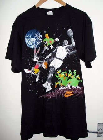 shirt space jam basketball michael jordan jordan 23 space bugs bunny