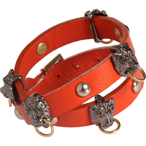 Fallon leather wrap bracelet with lion doorknockers at barneys.com