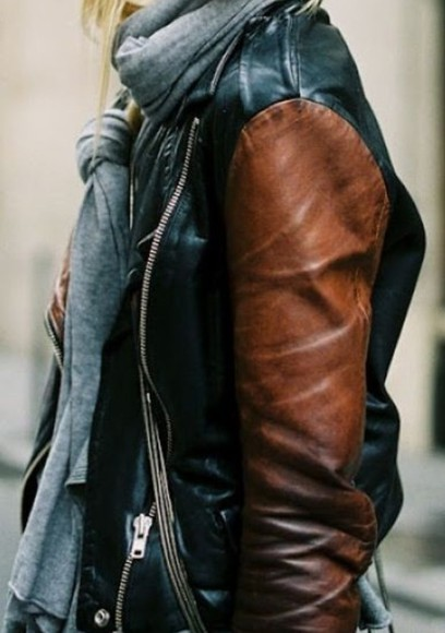 black brown jacket leather