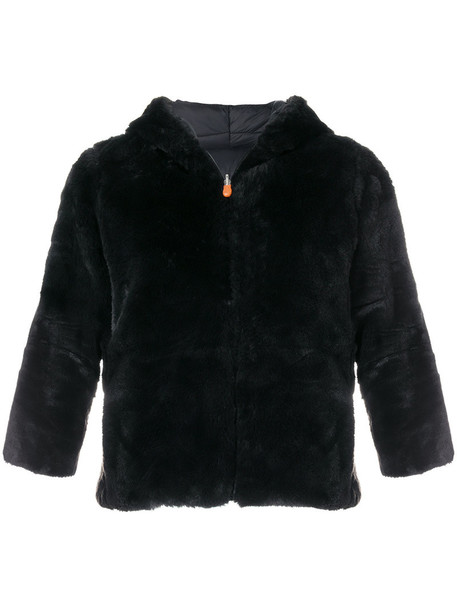 Save The Duck jacket cropped women black