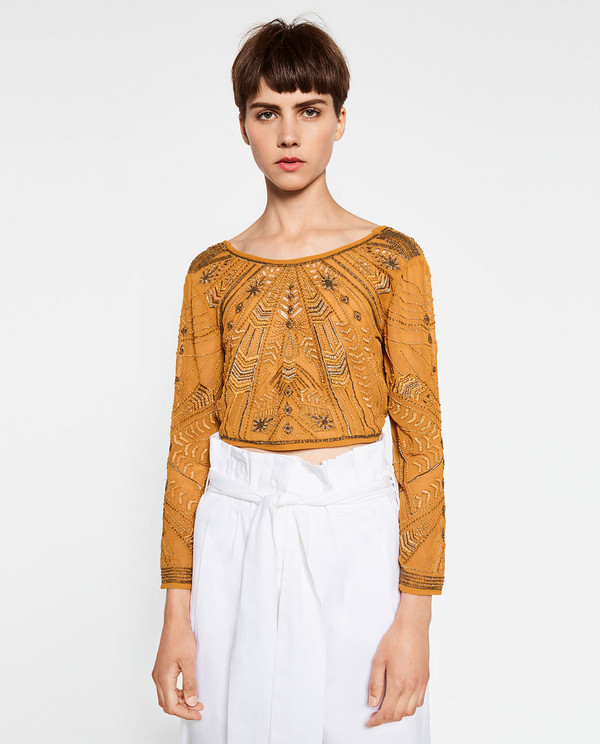33581da1d5dac SPECIAL EDITION EMBROIDERED CROP TOP - View All-TOPS ...