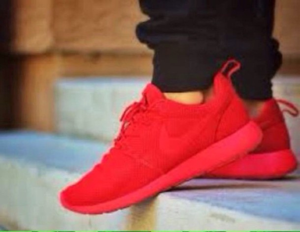 reputable site ed6fe d48ad shoes nike roshes red shoes red nike shoes