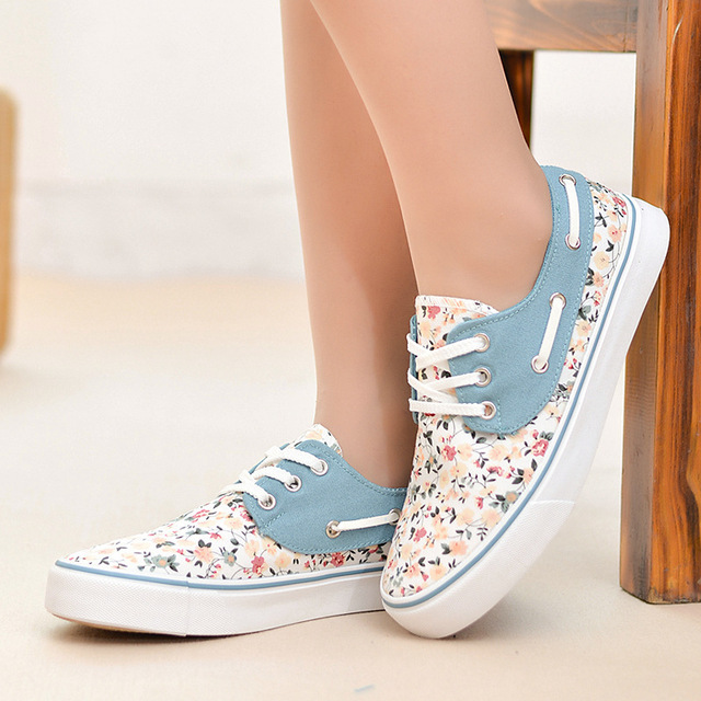 0fd45b29e42c Online Shop Princess Floral Canvas Shoes Women Flats Shoes ...